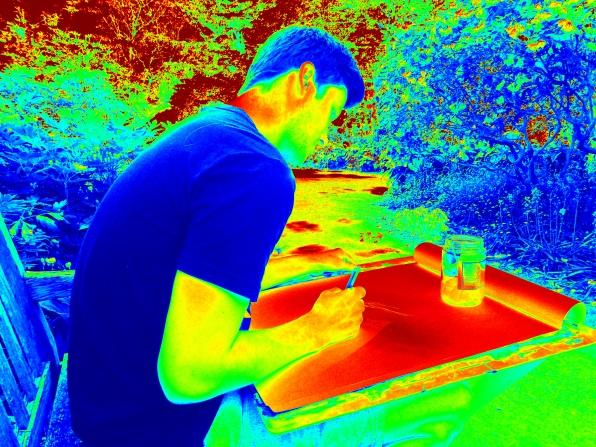 Jordan in the Garden.JPG